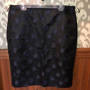 J. Crew black and navy pencil skirt